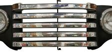 1948 1949 1950 Ford Pickup Truck Stainless Grill Bar Trim Set w/o crankhole