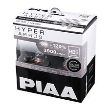 PIAA Hyper Arros HB3 Car Replacement Headlights Bulbs +120% (Twin Pack) HE909
