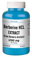 Berberine HCI EXTRACT 1200mg Diabetes,Depression,Cholesterol,Heart 120 CAPSULES