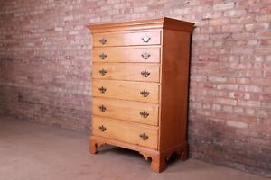 18th Century Early American Chippendale Maple Chest of Drawers