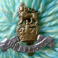 Royal Army Pay Corps Officer's Cap Badge QC Bi-Metal Slider ANTIQUE maker GAUNT