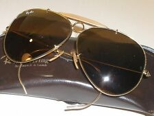 62mm VINTAGE B&L RAY BAN GP B15 TOP GRADIENT MIRROR SHOOTER  AVIATOR SUNGLASSES