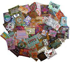 Aufnäher, Labels gewebt und Labels aus Leder, 250g Sortiment (ca. 100 Stück)