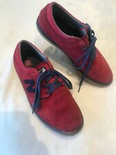 NEW BALANCE Men's Skate Shoes Red Suede NUMERIC BRIGHTON 344 Size 10 TS2