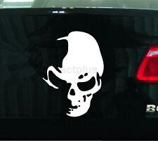 New White Skull Large Vinyl Car Decal Window Light Reflecting Decals Sticker CA