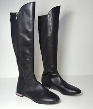 $199 size 8.5 Tahari Ramses Black Leather Over The Knee Riding Womens Boots