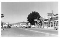 Real Photo Postcard Businesses and Street Scene in Yreka, California~121262