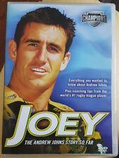 Joey - The Andrew Johns Story So Far DVD Aus Region 4, Free Postage