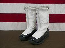 Totes Boots Winter White Zip Up Faux Fur Trim Women's Size 4