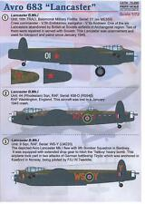 Print Scale Decals 1/72 AVRO 683 LANCASTER British WWII Heavy Bomber