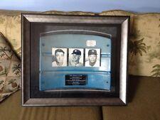 Yankee Stadium Seatback History of #6 Framed Mantle White Lazzeri Steiner Sports