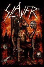 More details for slayer - devil on throne official licensed textile poster flag
