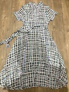 Burberry Silk Midi Dress UK6 RRP£698