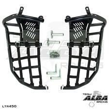 Suzuki LTR450 LTR 450  Nerf Bars  Pro Peg Heel Gaurd   Alba Racing  Black Black