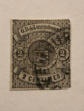 Luxembourg Stamp Scott#5 2c Used Hinged High CV$ 300$