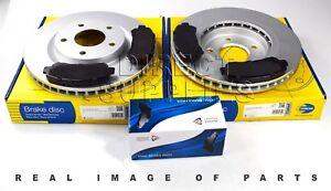 FRONT AXLE BRAKE SET DISCS PAD FOR FITS QASHQAI COMLINE ADB01577 ADC0274V