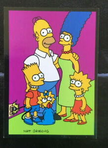 1993 Simpsons Skybox G1 Glow in the dark Chase Card