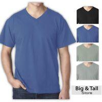 Big and Tall Men's Cotton V-Neck T-Shirt by Falcon Bay 3XL - 8XL, 2XLT - 6XLT