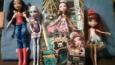 "Lot of 4 - Dolls 11"" & 12"" - Monster High - La Dee Da - Wonder Woman"