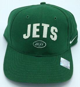 NFL NEW York Jets Nike Adult Structured Felt Letters Adjustable Fit Cap Hat NEW