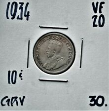 1934 Canada 10 Cents