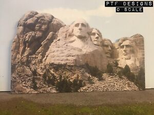 """""""Mt Rushmore"""" O Scale Scratch Built Mountain Flat-Front Presidential Background"""