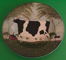 """Sakura NY Animal Collection Warren Kimble 2000 Cow Collector Plate 8"""" D Farm"""