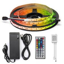 10M 600Leds 5050 RGB LED Strip Light Non-Waterproof +44Key IR Remote+24V Power