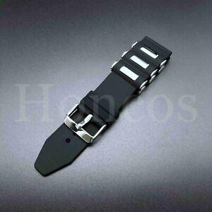20-26 MM Russian Diver Silicon Rubber Watch Band Strap Invicta Black Bullet Band