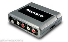 Numark Stereo iO SCHEDA AUDIO Professionale per Dj Giradischi Mixer Pc Mac NUOVA