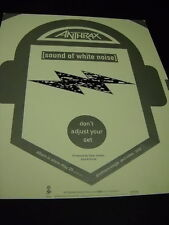 Anthrax 1993 Promo Poster Ad Don'T Adjust Your Set