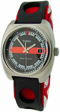 Timex Rally Quarz Herrenuhr rot schwarz quartz mens watch rallye silicon strap