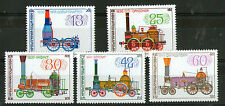 BULGARIA 1984 EARLY STEAM LOCOMOTIVES SET OF ALL 5 OF COMMEMORATIVE STAMPS MNH