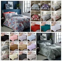 FLANNEL DUVET COVERS THERMAL WARMTH BEDDING SET 100% BRUSHED COTTON DOUBLE KING