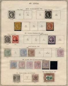 ST.LUCIA/ST.HELENA: 1860-1913 - Ex-Old Time Collection - 2 Sides Page (39372)