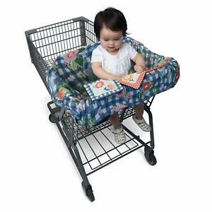 Boppy Shopping Cart and Restaurant High Chair Cover Navy Blooms