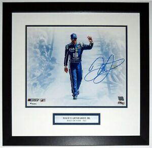 Dale Earnhardt Jr Autographed 11x14 Photo Fanatics COA Framed Hall of Fame Plate