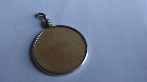 Pendentif ancien, porte photo. Reliquaire en Argent. 31 mm  (N°12)