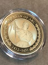 New ListingBradford Exchange Joan Of Arc Historic Women Of The World Coin 24K Plated Coin