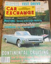 Car Exchange Sept.1980- Mustang, Toronado, Continental. repair Laquer paint blem