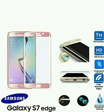 For Samsung Galaxy S7 Edge 9H Hardness 3D Tempered Glass Screen Protector PINK
