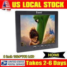 "HDMI Input For PC CCTV Portable S801H 8"" TFT LCD Monitor VGA BNC Video Audio A26"