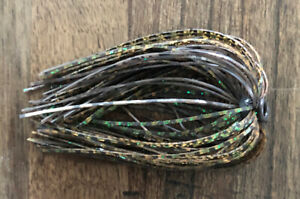 Bass Jig Skirts - Lot Of 10 - Color Natural Craw - Tournament Quality