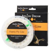 Fly Line WF 1/2/3/4/5/6/7/8/9F White Fly Fishing Line &2 loop & Spool Box