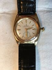 ROLEX BUBBLE BACK 3130 18K SOLID GOLD VINTAGE MFG.1946 OYSTER PERPETUAL EXC