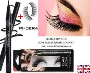 PHOERA Self-Adhesive Magic Eyeliner Pen With Waterproof No Glue Needed Lashes UK