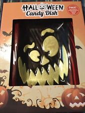 Halloween Ceramic Candy Dish Jack-o-lantern American Greeting Cards New In Box