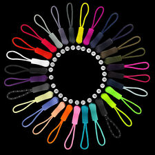 10pcs Colorful Zipper Pulls Cord Rope Ends Lock Zip Clip Buckle For Clothing/Bag