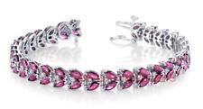 Ruby Diamond Estate Bracelet 21.20ct 14k White Gold Natural Marquise Cut
