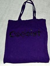 Coexist Womens Purple Black Bag Satchel Tote Handbag Peach Sign Jewish Star